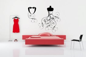 A whimsical minimalist's touch defines a dressing space