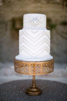 Gatsby-inspired Art Deco Cake (Jamilah Photography, Paola Cake Atelier)