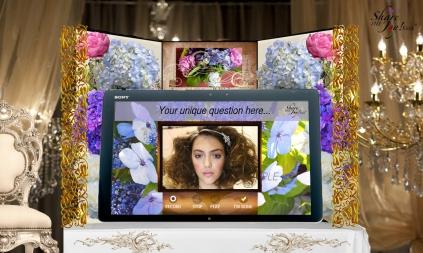 Share the Joy! Kiosk, Classic Romance Wedding