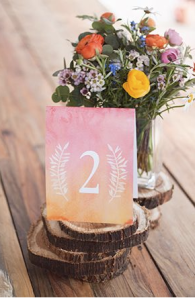 ombre table number