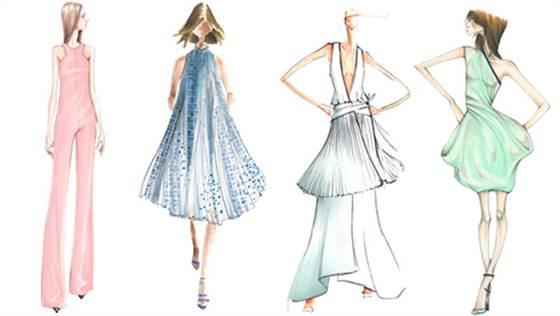 pantone dresses