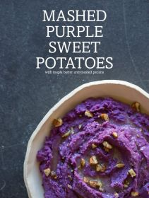 Photo: Spoon Fork Bacon http://www.spoonforkbacon.com/2012/11/mashed-purple-sweet-potatoes/